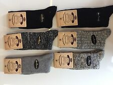 6 Pairs Mens Thick Chunky Wool Work Hiking Boot Socks Warm Size UK  6-11 HGBVF