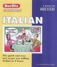 ITALIAN BERLITZ RUSH HOUR 2 AUDIO CDS & BOOK 2831570999