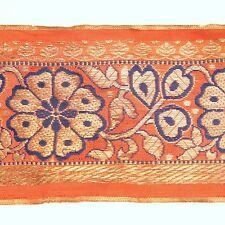 3m (10 foot) LONG Old Antique India SARI Saree TRIM Embroidered Textile 652p2