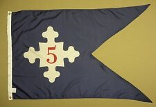 5th Corps HQ 1861 Historical Indoor Outdoor Nylon Flag Guidon Grommets 3' X 5'