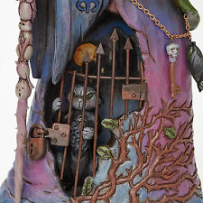 Jim Shore*WITCH with CAT BEHIND GATE*New*NIB*HALLOWEEN*Wickedness Awaits*4047838