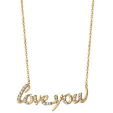 argento Sterling placcato oro Da donna 45.7cm 'Love you' Collana forzatina
