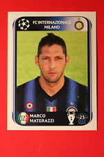 PANINI CHAMPIONS LEAGUE 2010/11 # 11 INTER MATERAZZI BLACK BACK MINT!
