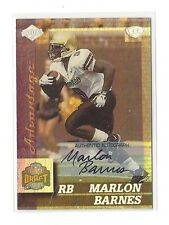 1999 COLLECTOR'S EDGE ADVANTAGE RC MARLON BARNES AUTO #153 CHICAGO BEARS