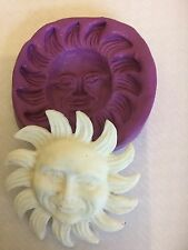 Silicone mould Sun (Shabby Chic Cupcake Topper. Dolls Crafts.decorating