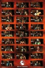 WARNER BROTHERS MORTAL KOMBAT X GROUP GRID 22x34 POSTER NEW FREE SHIP