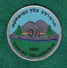 C760 OA BSA Scouts VINTAGE WAUPECAN 197 - SPRING FELLOWSHP 1995