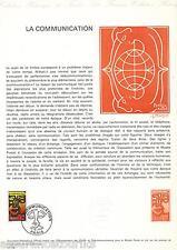 DOC. PHILATÉLIQUE - LA COMMUNICATION -  1976 YT 1884