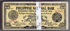 WHOLESALE 100 PHILIPPINES 20 PESOS CEBU GUERILLA of WWII PICK # S 218 NICE CIRC