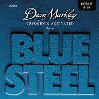 Dean Markley 2550 Blue Steel Electric Guitar Strings 8-38 XL gauge