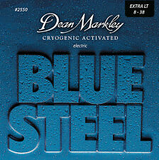 Dean Markley 2550 Blue Steel Electric Guitar Strings 8-38 XL gauges 8-38