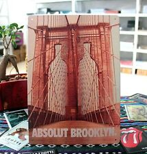 Absolut Brooklyn Vodka Vintage Classic Tin metal Sign Bar pub club Collectable