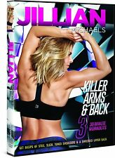 Cardio +Toning EXERCISE DVD - Jillian Michaels Killer Arms and Back 3 workouts