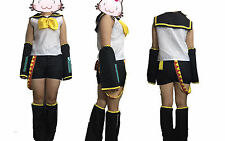 VOCALOID 2 Rin Kagamine Cosplay Halloween Costume Complete Set Size XL
