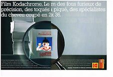 Publicité Advertising 1989 (2 pages) Les Films Kodachrome Diapositives Kodak