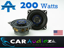 "Autotek 4"" 10cm New 2 way car audio door shelf speakers pair 200W Top quality"