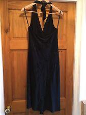 Women's New Look Halter Neck Black Dress Size 12