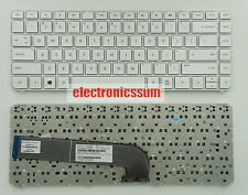 For HP Pavilion DV4-5000 DV4-5100 699286-001 V131662BS2 Keyboard US White Frame