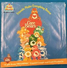"""CARE BEARS Friends Make Everything Better (1986) Kid Stuff Triaminic 7"""" record"""