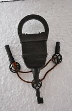 Old Style Looking 3 Keys Iron Tricky / Puzzle Pad Lock, Collectible