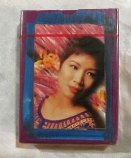 Singapore Airlines Singapore Girl playing cards sealed deck ! purple