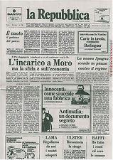 QUOTIDIANO LA REPUBBLICA ANNO 1 NUMERO 1 DEL 14.01.1976.RISTAMPA DEL 14.01.2016