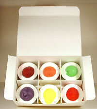 6 FRUIT TARTS UK MADE SOAPS IN GIFT BOX ,IDEAL PRESENT SUPERB,SENSUAL,LUXURIOUS