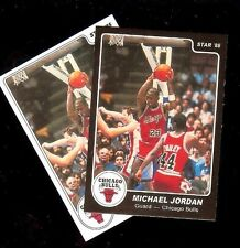 2 Card 1984-85 Star Michael Jordan #101 XRC Rookie White & Black Border Reprints