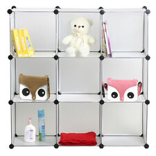 AU WARDROBE 9 EASY CUBE STORAGE CUPBOARD SHOE RACK BOOK CLOTHES TOYS SHELVES