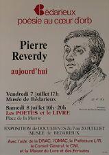 """""""Pierre REVERDY aujourd'hui"""" Affiche originale entoilée Offset d'après PICASSO"""