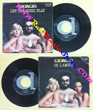 LP 45 7'' GIORGIO MORODER Let the music play Oh l'amour 1977 italy no cd mc dvd*