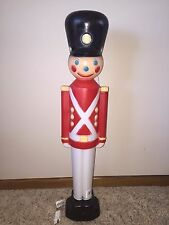 "New 31"" Christmas Lighted Blow Mold Toy Soldier Yard Decoration"