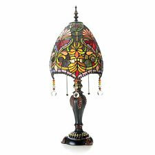 "Tiffany-Style 31"" Family Favorite Stained Glass Beaded Table Lamp Brianne NEW"