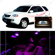 For Acura MDX 2001-2006 Pink LED Interior Kit + Xenon White License Light LED