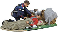 BRITAINS SOLDIER 20121 - The Evacuation of the Hospital No.6 24th Foot Wounded