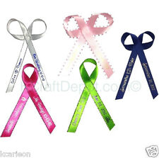 """250 Personalized Ribbons 1/4"""" or 3/8"""" Wedding Birthday Party Baby Shower Favor"""