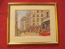 """Superbe aquarelle par Roland Hamon """" Montmartre vue de la rue Tholozé  """""""