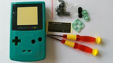 CARCASA COMPLETA+PANTALLA COMPATIBLE GAME BOY COLOR GREEN2 NEW/NUEVO