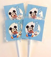 24 MICKEY MOUSE 1ST BIRTHDAY LOLLIPOPS CANDY FOR PARTY FAVORS MADE IN THE U.S.A