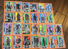 2016 DAILY MAIL TOPPS FORCE ATTAX STAR WARS PROMO CARD SHEET SET OF 30 BB-8 REY