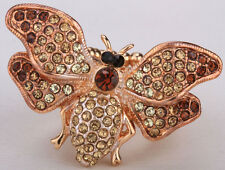 Bee Stretch Ring Cute Animal Bling Sacrf Jewelry Gift Dropship Gold 6