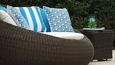 Outdoor Round Quality Rattan Day Bed Sofa Lounge RRP $1800