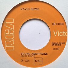 "7"" David Bowie ‎– Young Americans Italy 1975 RCA Victor ‎– XB 01003 Nm"