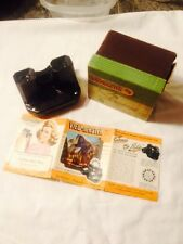 1949 View Master Syereoscope 3-D Original Box And Advertising Paper
