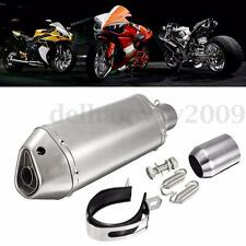 38-51mm Motorcycle Stainless Steel Exhaust Muffler Slip-on Pipe Remove Silencer
