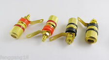 2 Pair Gold Plated Amplifier Terminal Binding Post 4mm Banana Plug Female Jack