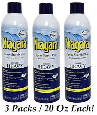 Niagara Spray Starch Plus Aerosol HEAVY Durafresh Easy Glide Ironing 3 Packs NEW