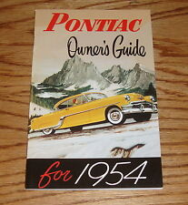 1954 Pontiac Owners Operators Manual 54 Handbook Guide
