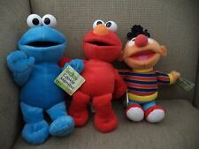 SESAME STREET ELMO ERNIE & COOKIE MONSTER PLUSH DOLLS *NEW*