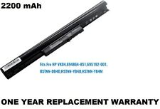 4 Cell Laptop Battery for HP Pavilion 15-D017SS, 15-D017SX, 15-D017TU TouchSmart